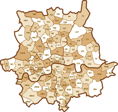 London Postcode Map